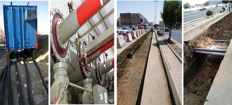 110kV Cable installation work at Taif City HVT substation to TPS 1 Substation (8.2KM) and Termination work