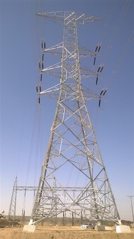 110kV Double Circuit Overhead Transmission Line and Transition area work at Taif